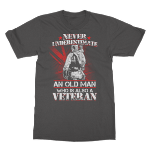 Never Underestimate An Old Man Who Is Also A Veteran Classic Adult T-Shirt