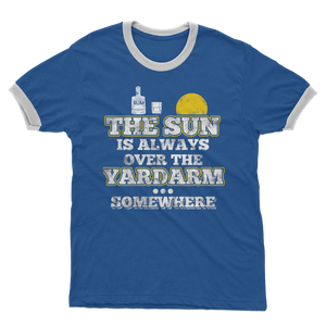 The Sun Is Always Over The Yardarm Somewhere Adult Ringer T-Shirt