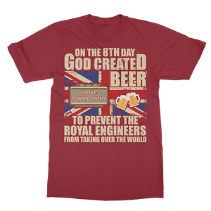 Royal Engineers Love Beer Classic Adult T-Shirt