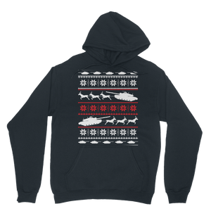Army Sleigh Tank Christmas Classic Adult Hoodie