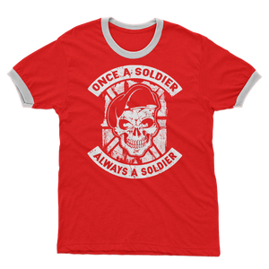 Once A Soldier Always A Soldier Adult Ringer T-Shirt
