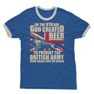 British Army Loves Beer Adult Ringer T-Shirt