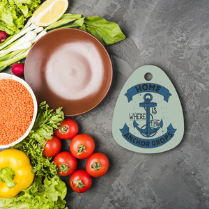Home Is Where The Anchor Drops Sublimation Glass Cutting Board