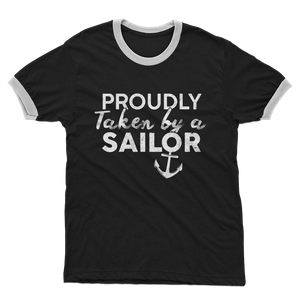 Proudly Taken By A Sailor Adult Ringer T-Shirt