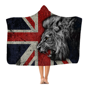 British Lion All Over Printed Classic Adult Hooded Blanket