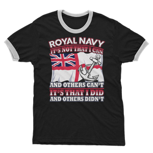 Royal Navy - It's That I Did Adult Ringer T-Shirt