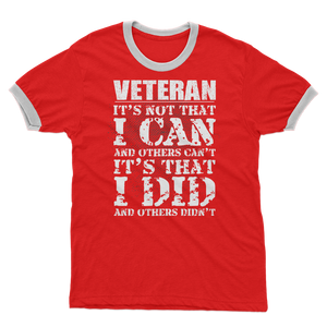 Veteran - It's That I Did Adult Ringer T-Shirt