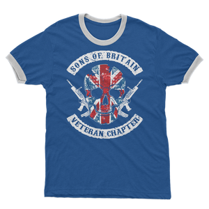 Sons Of Britain - Veteran Chapter Adult Ringer T-Shirt