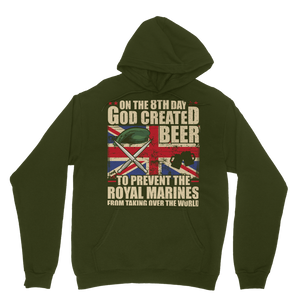 Royal Marines Love Beer Classic Adult Hoodie