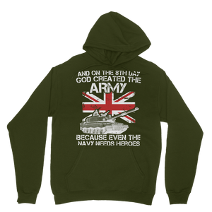 And On The 8th Day God Created The Army Classic Adult Hoodie