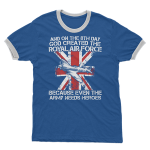 Royal Air Force Are Heroes Adult Ringer T-Shirt