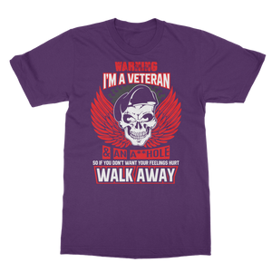 Warning - I'm A Veteran Classic Adult T-Shirt