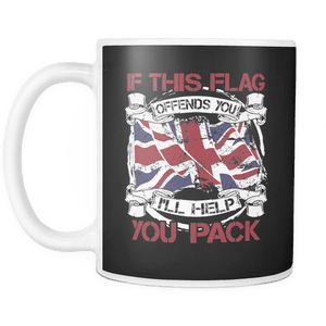 If This Flag Offends You I'll Help You Pack Mug