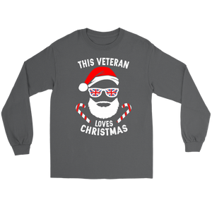 This Veteran Loves Christmas - Long Sleeve Tee