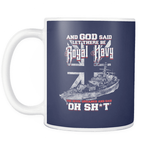 And God Said Let There Be Royal Navy Mug
