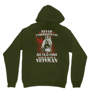 Never Underestimate An Old Man Who Is Also A Veteran Classic Adult Hoodie