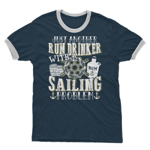 Just Another Rum Drinker With A Sailing Problem Adult Ringer T-Shirt