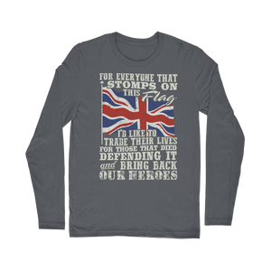 Don't Stomp On This Flag Classic Long Sleeve T-Shirt