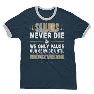 Sailors - Daily Tot Is Back Adult Ringer T-Shirt
