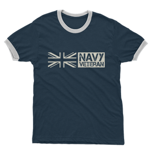 Navy Veteran Adult Ringer T-Shirt