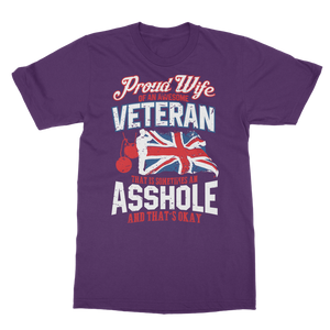 Proud Wife Of An Awesome Veteran Classic Adult T-Shirt