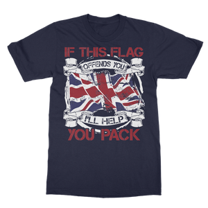 If This Flag Offends You I'll Help You Pack Classic Adult T-Shirt