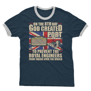 Royal Engineers Love Port Adult Ringer T-Shirt