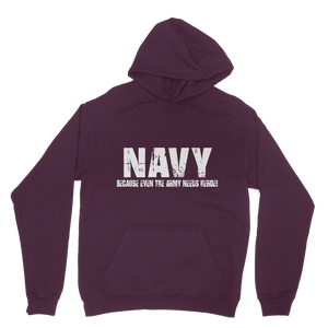 Navy Because Even The Army Needs Heroes Classic Adult Hoodie