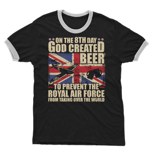Royal Air Force Loves Beer Adult Ringer T-Shirt