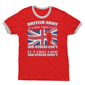 British Army - It's That I Did Adult Ringer T-Shirt