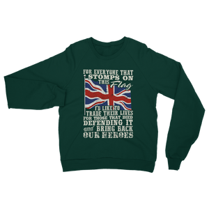 Don't Stomp On This Flag Classic Adult Sweatshirt