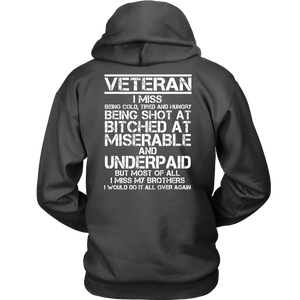 Veteran - I Would Do It All Over Again (Back Print)