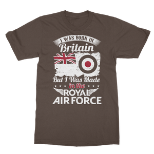 I Was Born In Britain But I Was Made In The RAF Classic Adult T-Shirt