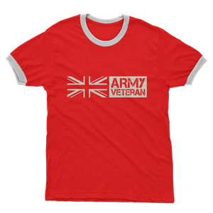 Army Veteran Adult Ringer T-Shirt