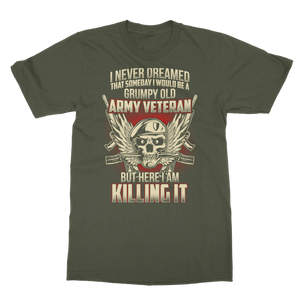 Grumpy Old Army Veteran Classic Adult T-Shirt