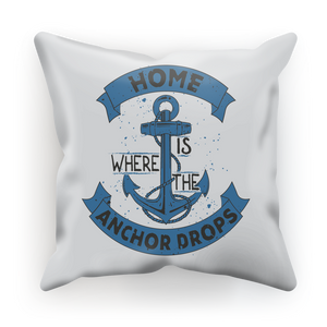 Home Is Where The Anchor Drops The Union Jack Sublimation Cushion Cover