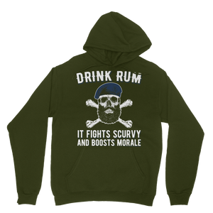 Drink Rum - It Fights Scurvy And Boosts Morale Classic Adult Hoodie