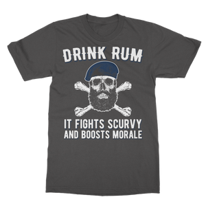 Drink Rum - It Fights Scurvy And Boosts Morale Classic Adult T-Shirt