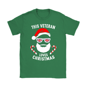 This Veteran Loves Christmas - Womens T-Shirt