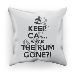 Why Is The Rum Gone Cushion Cover