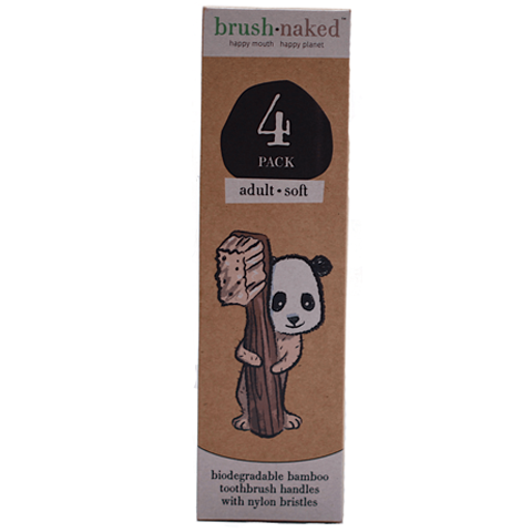 Adult Bamboo Soft Toothbrush 4-pack