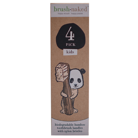 Kids Bamboo Soft Toothbrush 4-pack