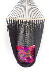 Yucatán Hammock Chair - Black || Keeka Collection
