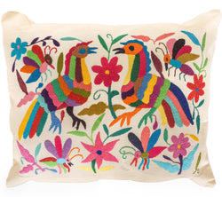 Mexican Otomi Pillow - Fiesta - Multi Color // Keeka Collection