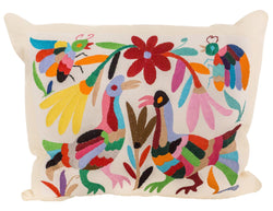 Mexican Otomi Pillow - Playa - Multi Color // Keeka Collection