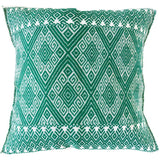 Woven Mexican Pillow - Emerald || Keeka Collection