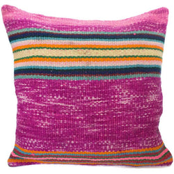Peruvian Frazada Pillow - Violet //  Keeka Collection