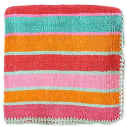 Peruvian Frazada Rug / Blanket - Seaside Sunset || Keeka Collection