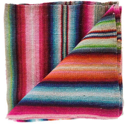 Peruvian Frazada Rug / Blanket - Bold Stripe ||  Keeka Collection