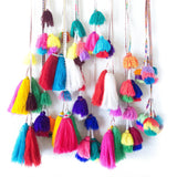 Hanging Peruvian tassel wall art / / Keeka Collection